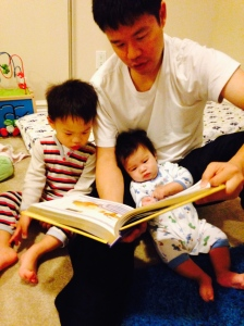 Bible reading before bed.